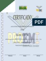 Certificado - Modelo