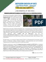 NOTADEPRENSA 02-2015 Presentacion de Plana