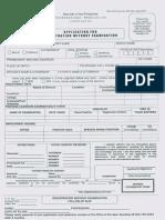 PRC Application Form