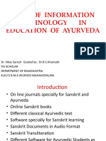 Role of Information Technology in Education of Ayurveda