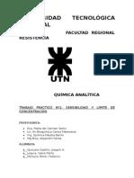 quimica analitica- Laboratorio de sensibilidad y selectividad de reactivos