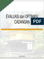 Materi MPC 10 Evaluasi Dan Optimasi Cadangan