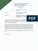 Inspector General's report