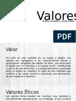 Valores Éticos, Morales y Humanistas