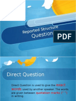 W1 Reported Speech - Questions