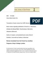 Jonathan Ferguson Psychoanalysis and German Idealism