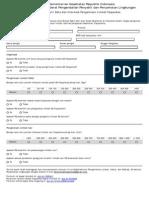 Formulir Elektronik Data Limbah Fasyankes