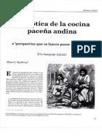 Semiotica de La Cocina Paceña Andina - Alison Spedding