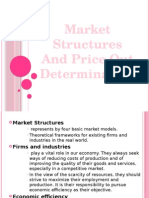 Market Structures and Price Out Determination