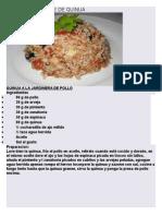 recetas texto instructivo de valor nutritivo de la quinua