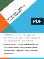 Utterances, Sentences, And Propositions