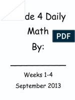 Daily Math Weeks 1 to 4