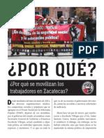 ¿Por qué se movilizan los trabajadores en Zacatecas?