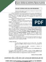 COMISIÓN DE CONTROL DEL PLAN DE PENSIONES