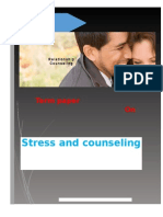 Term Paper on Stress and Counseling