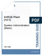 TM-1300 AVEVA Plant (12.1) System Administration (Basic) Rev 3.0