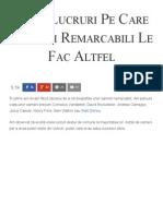 35 de Lucruri Pe Care Oamenii Remarcabili Le Fac Altfel - Florin Roșoga