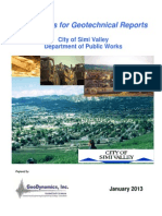 Guidelines for Geotechnical Reports