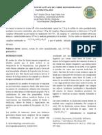 Síntesis y Caracterización de Acetato de Cobre Monohidratado