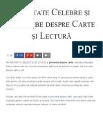 59 Citate Celebre Și Proverbe Despre Carte Și Lectură - Florin Roșoga