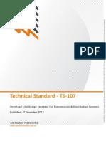 Ts107 Ohead Line Design Standard Transmission Distribution System