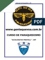 curso aff - paraquedismo