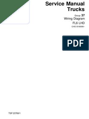 TSP23769-Wiring Diagram Volvo FL6 LHD | Anti Lock Braking System | Hvac | Volvo Wiring Diagram Fl6 Pdf |  | Scribd