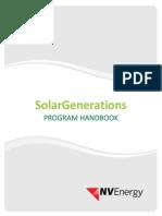 NV Energy Solar Generations Program Handbook 03.16.2015