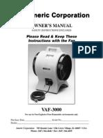 Vaf3000 Manual
