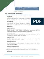 E.T. Obras Provisionales y Explanación