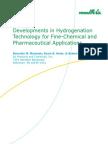 Hydrogen Support Developments in Hydrogenation Technology