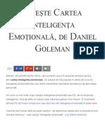 Citește Cartea Inteligența Emoțională, De Daniel Goleman - Florin Roșoga