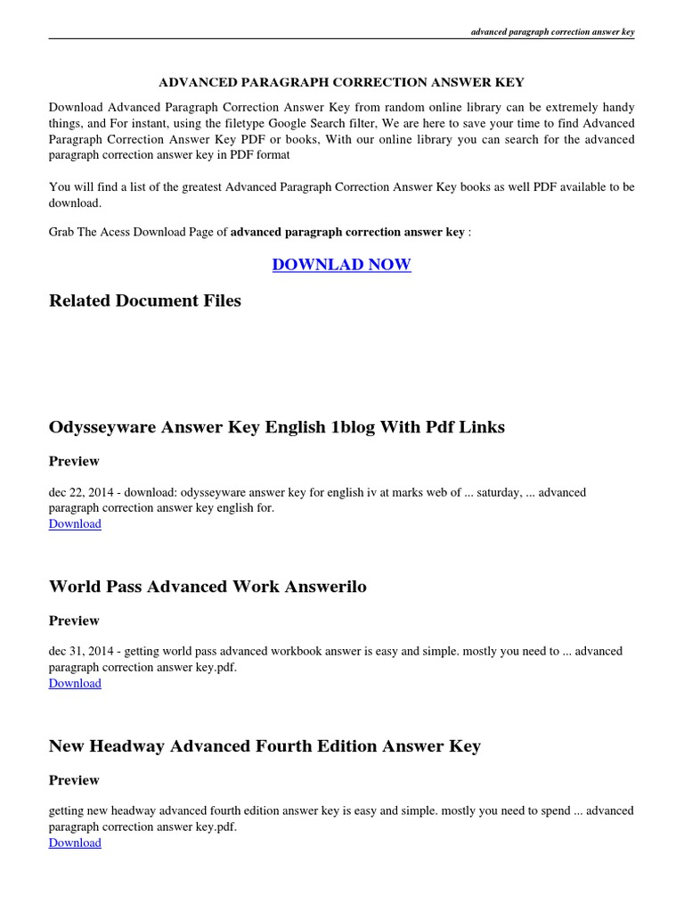 worksheet Paragraph Correction Worksheets advanced paragraph correction answer key pdf
