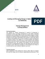 Training Syllabus in Change Management