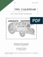 Spraying Calendar 1936