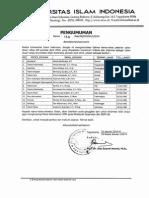 Pengumuman Lulus Calon Dosen Tetap Uii Periode April 2014