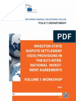 Investor-State Dispute Settlement (ISDS) Provisions in the EU's International Investment Agreements (Volume 1, Workshop)