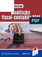 Raport Special Modificari Fiscal contabile