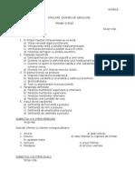 Simulare Examen de Absolvire 2