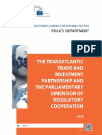 The Transatlantic Trade and Investment Partnership and the Parliamentary Dimension of Regulatory Cooperation