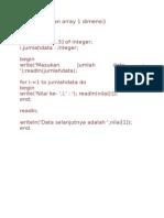 Pemrograman Array 1 Dimensi Dan Komunikasi Daring