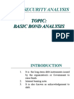 Basic Bonds Analysis