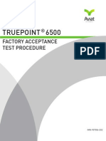 TRuepoint 6500 Factory Acceptance Test Procedure May 2010