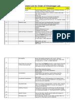 EIE Order List for Full Flange