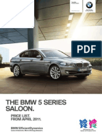 BMW 5 Series 2011 UK Price List