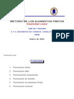 Metodo de Los Elementos Finitos, Elasticidad Lineal