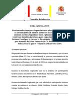 Nota Informativa Modificación Temario Fechas Exámenes y Letra