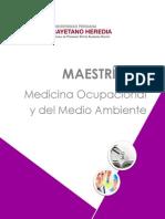 MaestrÃ-A en Medicina Ocupacional y Del Medio Ambiente2 (1) 2015