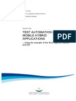 Test Automation for Mobile Hybrid Applications