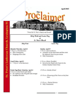 April 2015 Proclaimer
